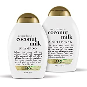 OGX Nourishing + Coconut Milk Shampoo & Conditioner Set, 13 Ounce
