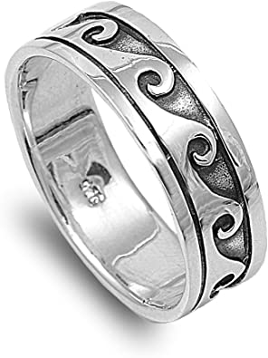 Princess Kylie 925 Sterling Silver Eternity Chained Infinity Signs Ring