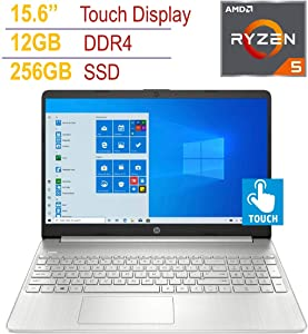 "HP Pavilion 15.6"" HD Touchscreen BrightView Micro-Edge Laptop PC, AMD Ryzen 5 3500U 2.1GHz Processor, 12GB DDR4, 256GB PCIe SSD, AMD Radeon Vega 8 Graphics, HD Webcam, HDMI, Bluetooth, Windows 10"