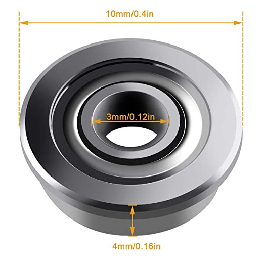 4 3x10x4 mm Metal Double Shielded flanged Bearing Ball Bearings with Flange 10 Fevas High Quality 10pcs ABEC-5 F623ZZ F623 ZZ F623Z 3 Outer Diameter: ABEC 1