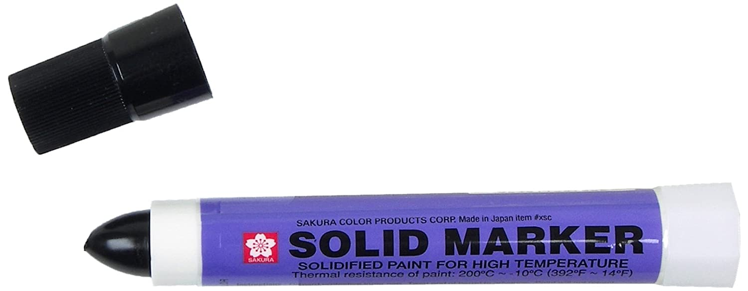 Sakura Solidified Paint Solid Marker, Black (Box of 12) Inc. XSC-49