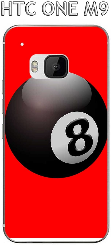 Onozo Carcasa HTC One M9 diseño Bola de Billar N ° 8 Puerta ...
