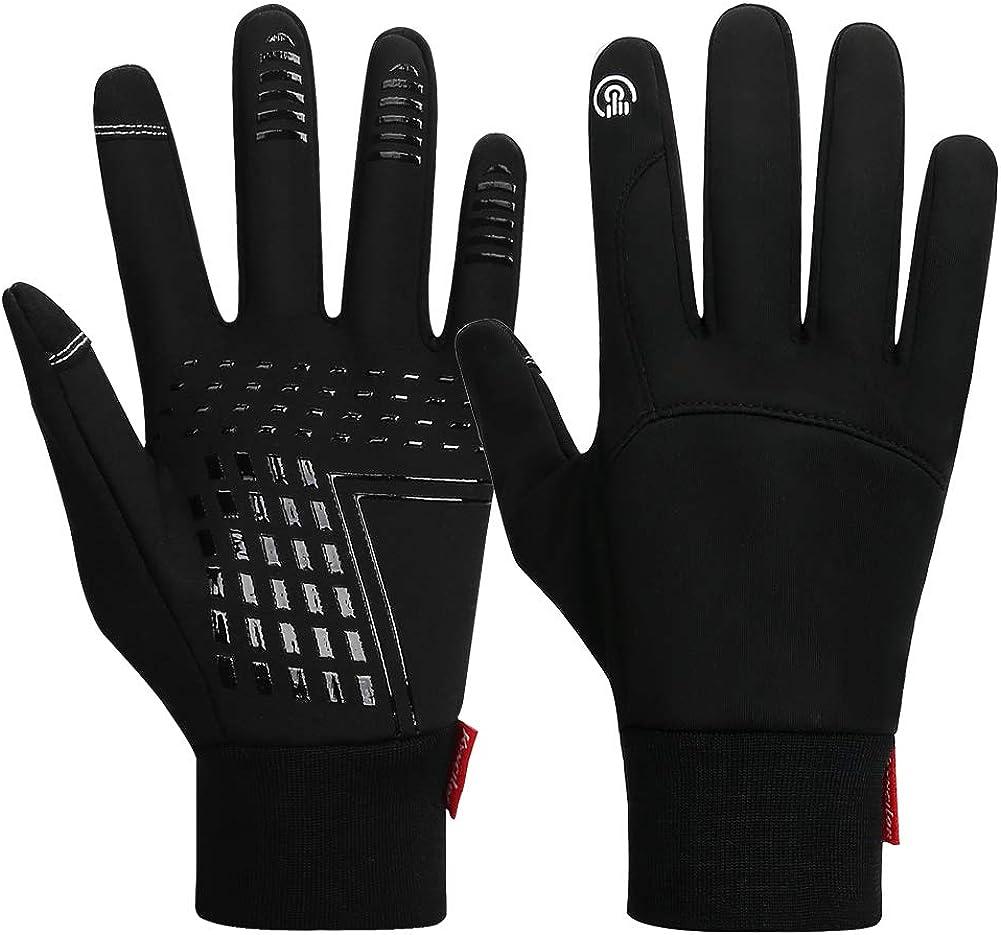 Mens Winter Warm Windproof Anti-slip Thermal Touch Screen Ski Gloves Sport Ride