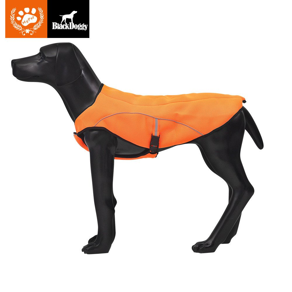 KINGSWELL Dog Jacket, Dog Anxiety Jacket Vest Poncho Clothing for Large Medium Small Dogs Outdoor Hiking Breathable Fleece Coat (XL)