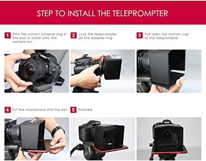 Bestview Smartphone Teleprompter for Canon Nikon Sony Camera Photo ...