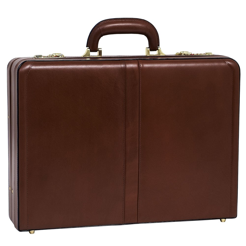 McKlein USA Harper Expandable Attache Case V series 18'' Briefcase in Brown by McKlein USA