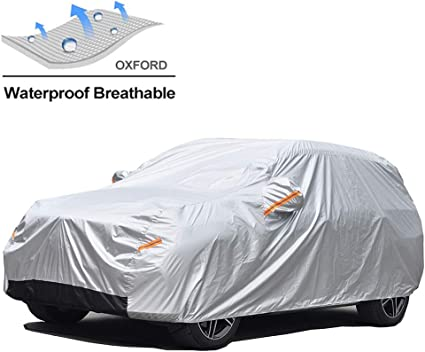 Snow Sun Rain UV Protective Outdoor Length 165-178 Inch GUNHYI Windproof Car Covers Waterproof All Weather For Automobile Fit Hatchback