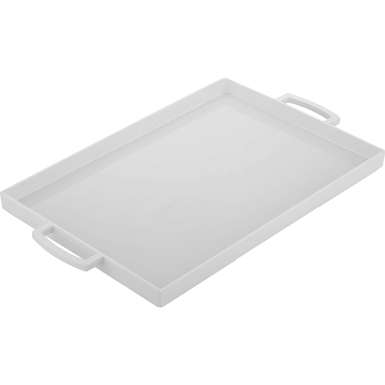 Zak Designs Black and White 12-1//2-Ounce Small Square Tray Black