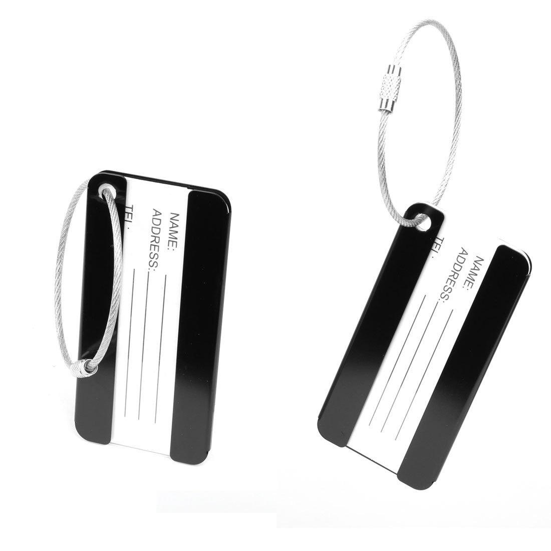 uxcell Aluminium Metal Travel Luggage Tags Card Holder Suitcase Baggage Name Address ID Bag Label Red 2pcs a17010600ux0399