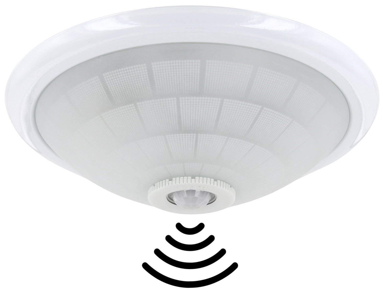 Plafoniera Da Esterno Con Sensore Di Movimento E Crepuscolare : Lampada da soffitto e con ir rilevatore di movimento a °