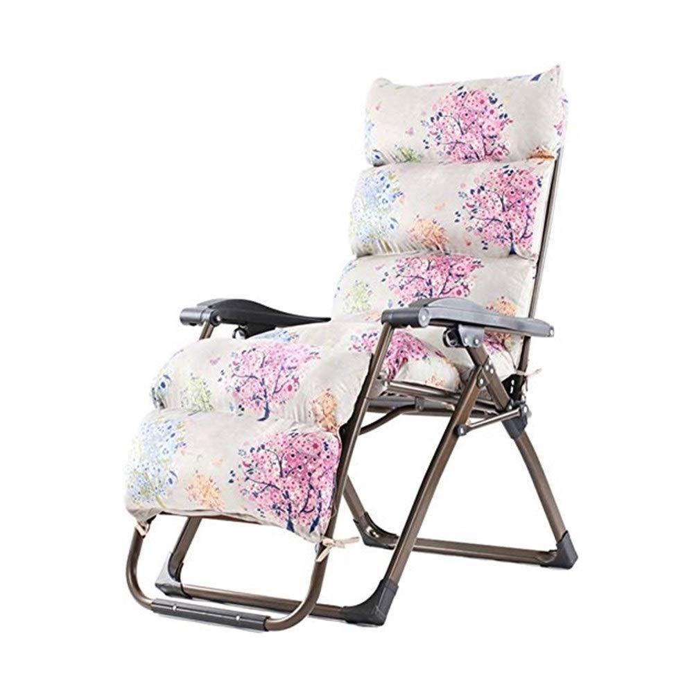 YYTLTY Folding Chair Multi-Level Reclining Chair, Folding Chair, Siesta Chair, Leisure Chair, Chair, Beach Chair, Outdoor Folding Chair154×80×65cm (Color : B) by YYTLTY