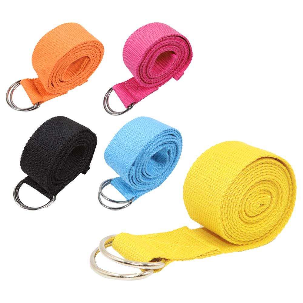 KINDOYO Cinturón de Yoga - Cinturón de Fitness de Algodón ...