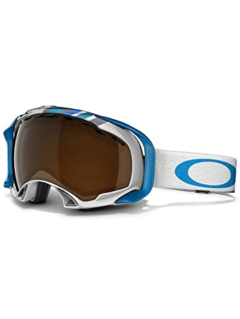 oakley blue iridium goggles  Amazon.com : Oakley Splice Snow Goggle, Slalom Peacock Blue with ...