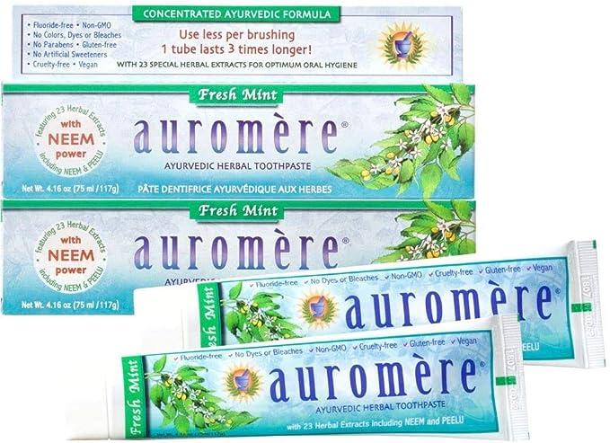 Pasta Dental Natural Ayurvédica Neem Orgânico e Peelu 117g - Auromère