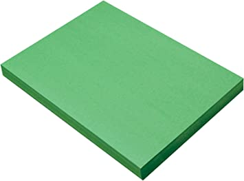 Pack of 50 SunWorks Heavyweight Construction Paper Bright Green 9 x 12 Inches