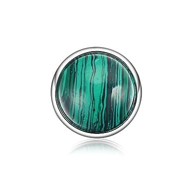 Austauschbare Münze Für Halskette Anhänger Stein Grün Anhänger