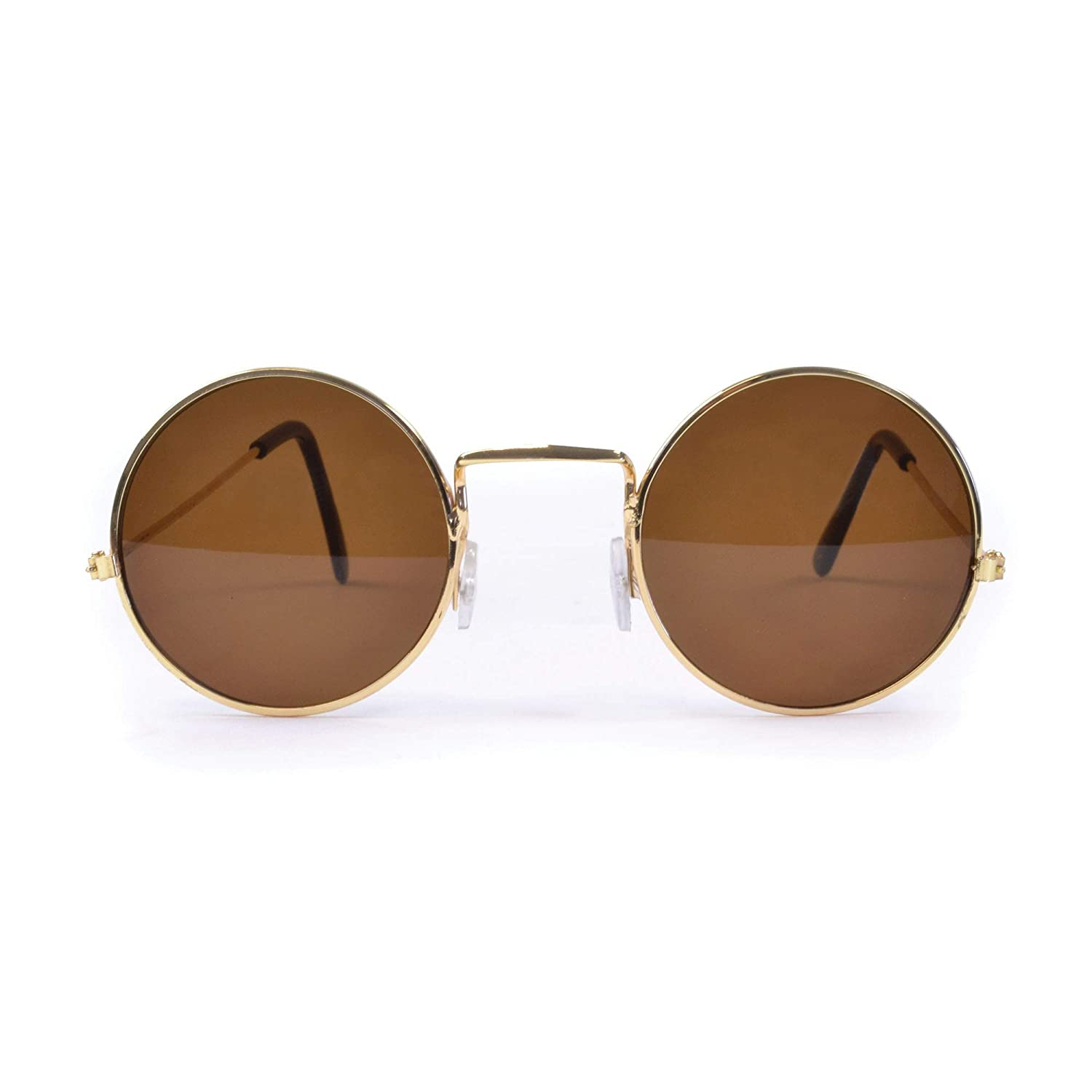 fancy dress warehouse Round Black Sunglasses Glasses Beattles John Lennon Fancy Dress by