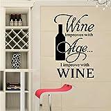 Sandistore Easy Stickers Vinyl Wall Stickers Kitchen Utensils Cutlery Wine