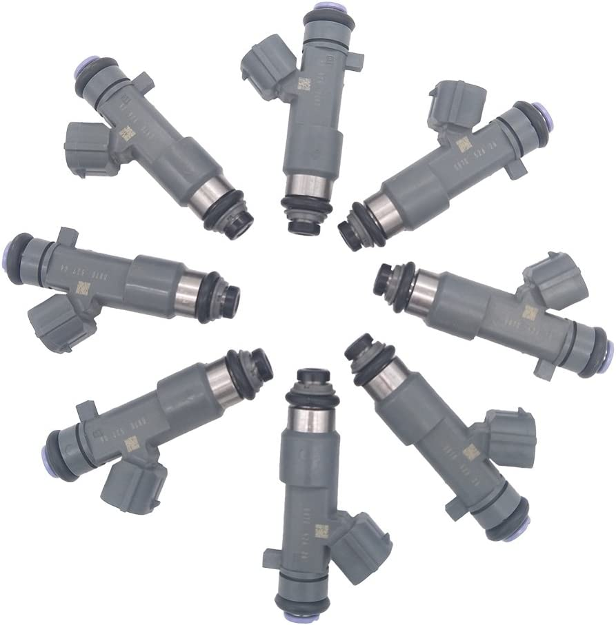 JESBEN 8pcs Set Fuel Injectors 12 Holes Fit For Armada Titan VK56DE 5.6L-V8 2006-2015 Frontier VQ40DE 4.0L 2016-2018 16600-ZJ50A FJ1076