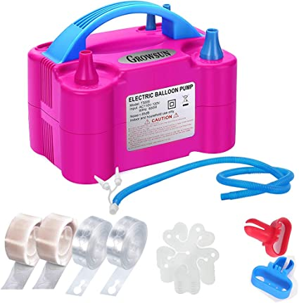 Balloon Inflator Pump 2-way Manual Pump Hand-pull Air Blower for Swimming Pool