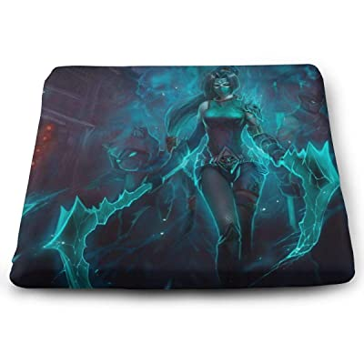 League Akali Square Cushion Thick Large Soft Mat Floor Pillow Seating for Home Decor Garden Party for Chair Pads 15x13.7x1.2Inch: Office Products