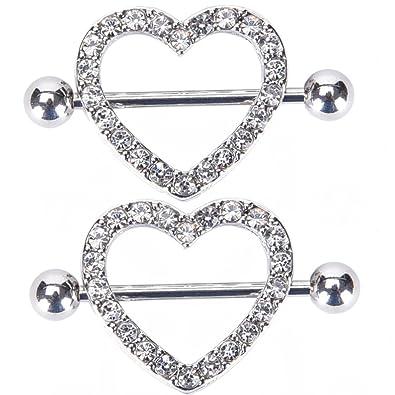 Amazoncom Body Piercing Ringsirbingnii Heart Shape Two Layers