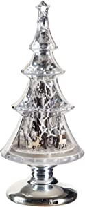 Cypress Home Beautiful Christmas Tree Winter Scene Musical LED Table Top Décor - 8 x 8 x 18 Inches Indoor/Outdoor Decoration for Homes, Yards and Gardens