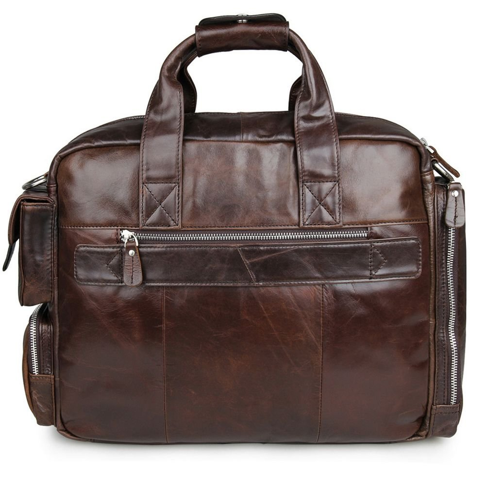 89b4bf470 Jsix Bolso de Cuero de piel Mensajero Bolso de Bandolera Para Hombre del ordenador  portátil marrón (marrón): Amazon.es: Zapatos y complementos