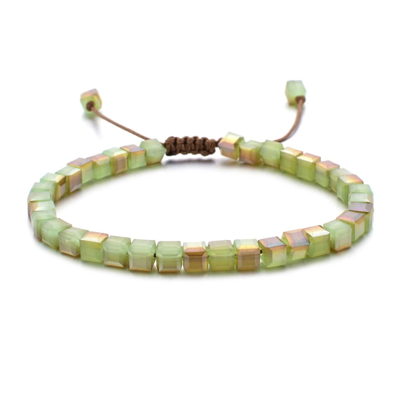 Greenflows Fashion Style Woman Wristband Glass Crystal Bracelets Gifts Jewelry Wristlet Trinket