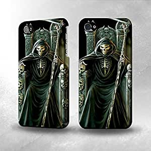 Apple iPhone 5 / 5S Case - The Best 3D Full Wrap iPhone Case - Grim Reaper Skeleton King by icecream design