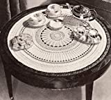 Vintage Crochet PATTERN to make - Large Round Doily Tablecloth Table Cover. NOT a finished item. This is a pattern and/or instructions to make the item only.
