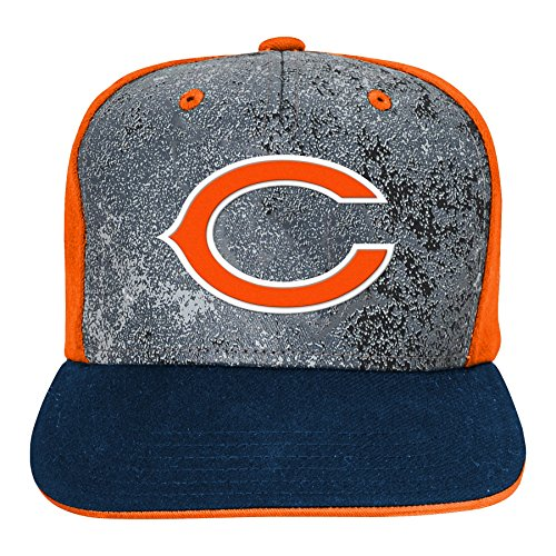 Chicago Bears Kids Accessories - Outerstuff NFL Chicago Bears Boys Magna Flatbrim Snapback, Deep Obsidian, One Size