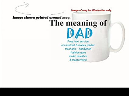 The Lazy Cow El Significado de Dad Sarcastic – Taza de cerámica Apto para lavavajillas