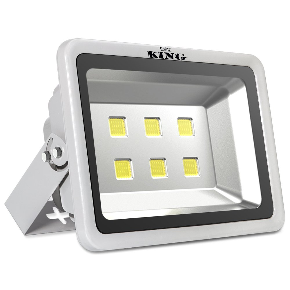 King 300W High Power LED Flood Light Daylight White 6500K Waterproof Outdoor lighting Spotlight Wall Garden Projector AC100-240V by KingLED