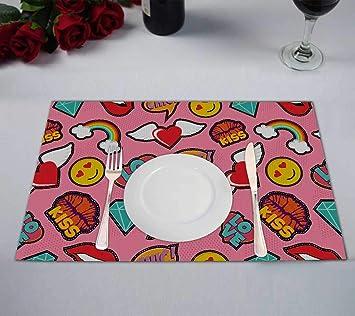 Amazon com: PKQWTM Pink Girl Icons in Pop Emoji Love and