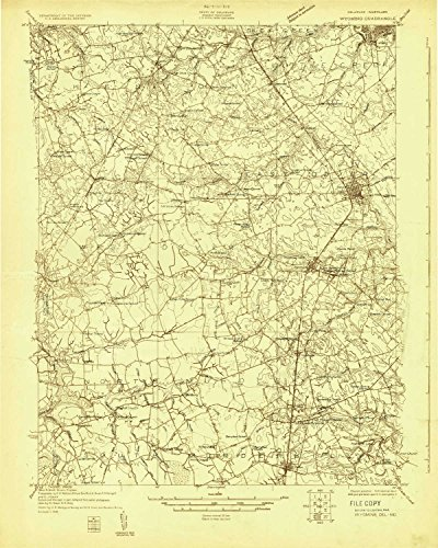 Huntley Woods - YellowMaps Wyoming DE topo map, 1:48000 Scale, 15 X 15 Minute, Historical, 1926, 27.1 x 21.7 in - Paper