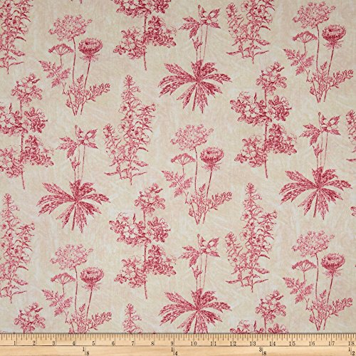 Ivory Fabric By The Yard (Garden Toile Fabric)