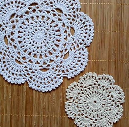 Amazon Com Xuba Luxury Lace Crochet Table Place Mat Cloth Cotton