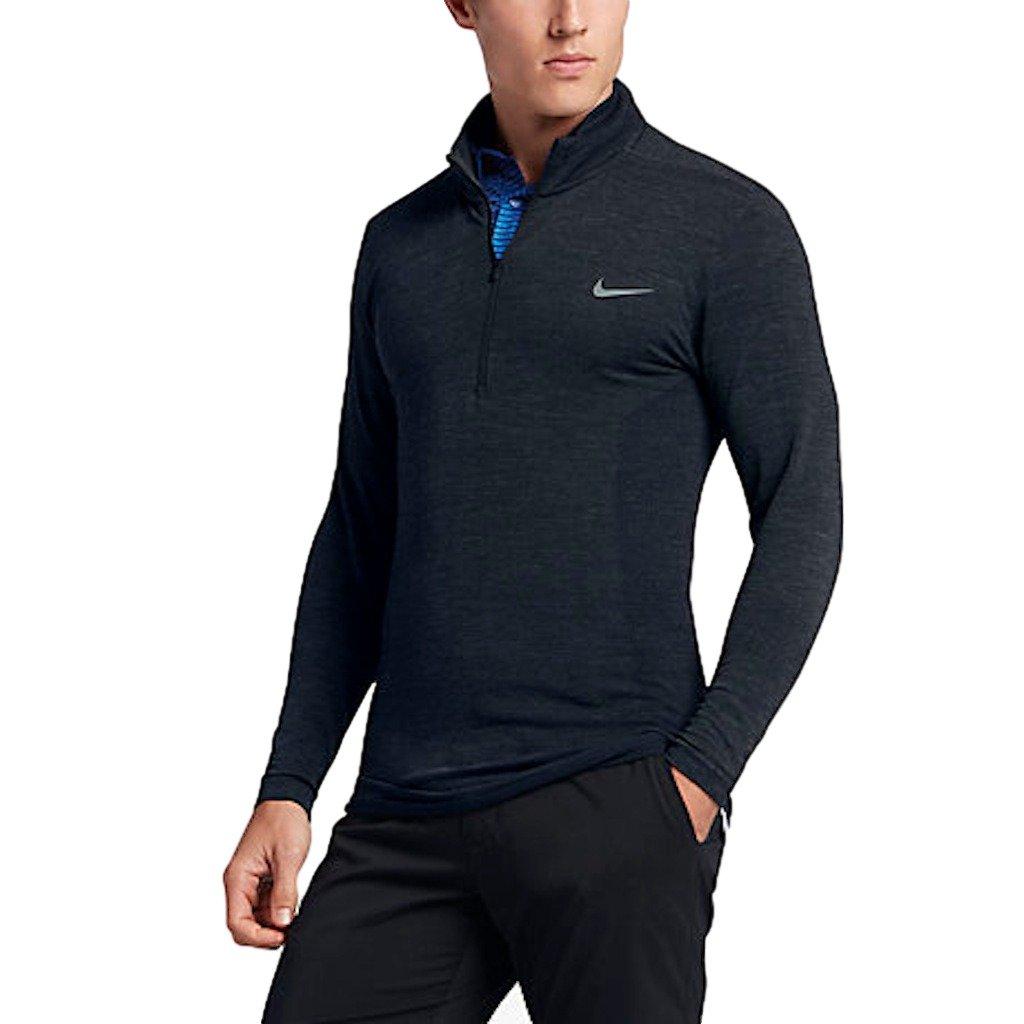 Nike Seamless Wool Half-Zip Mens Golf Shirt $150 (010) Medium by NIKE (Image #1)