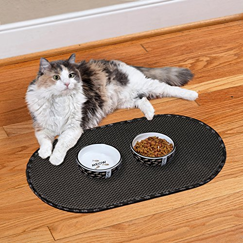 Envision Home 443300 Microfiber Pet Bowl Mat 12 5 By 21 5