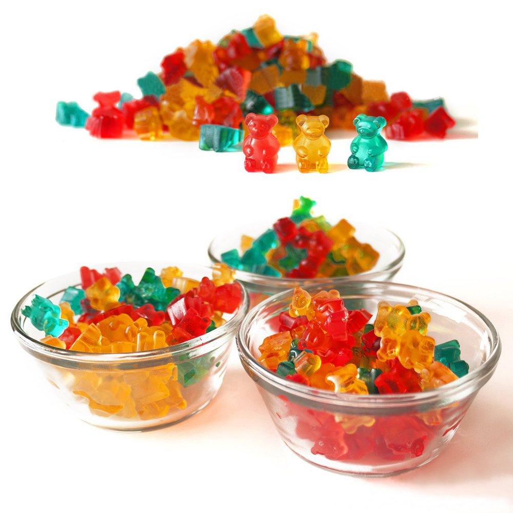 Bear Gummy Bear Candy Molds Candy Silicone Molds /& Ice Cube Trays SENHAI 3 Pack Gumdrop Jelly Molds Chocolate Molds
