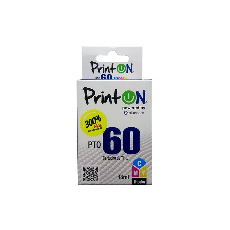 Amazon.com: PrintOn Inkjet Cartridge PTO60C compatible with ...