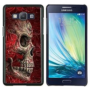 """Be-Star Único Patrón Plástico Duro Fundas Cover Cubre Hard Case Cover Para Samsung Galaxy A5 / SM-A500 ( Blood Red Huesos cráneo de la muerte del motorista"""" )"""