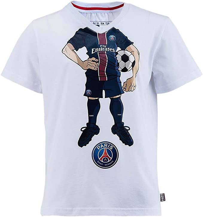 Blanc PSG T-Shirt Paris Saint-Germain Enfant Officiel
