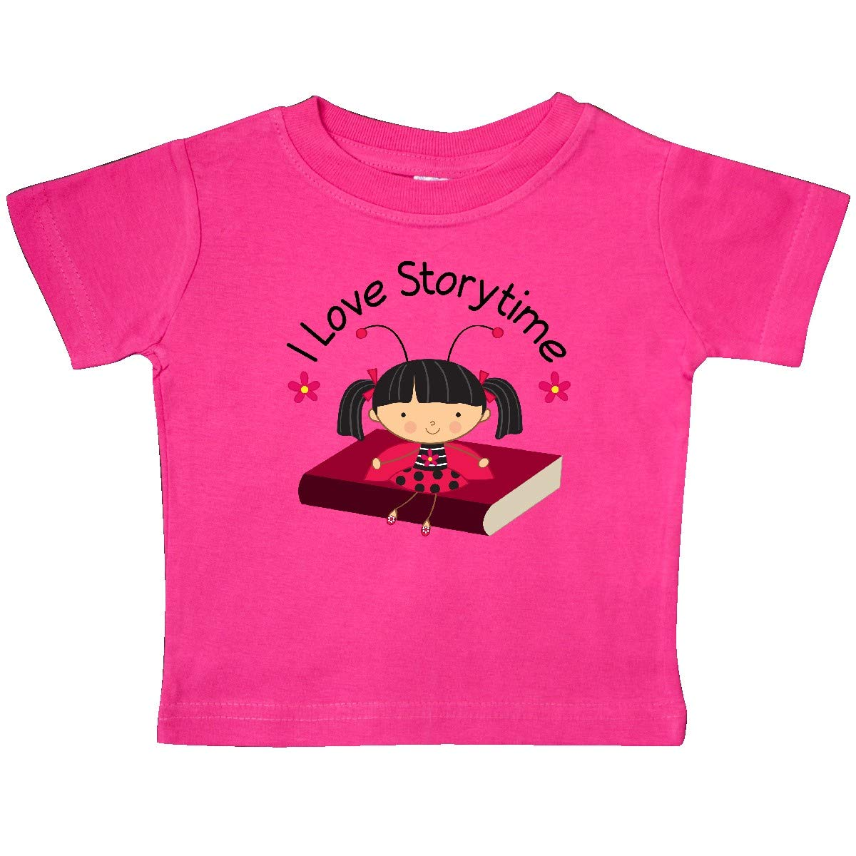 inktastic Library I Love Storytime Reading Baby T-Shirt