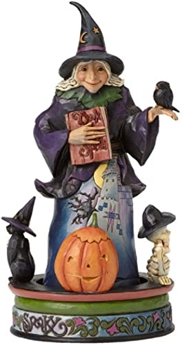 Jim Shore Enesco The Wicked Witch with Rotating Creepy Characters