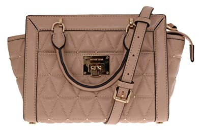 490727bbc7 Michael Kors Vivianne SM TZ Messenger Quilted Handbag Oyester ...