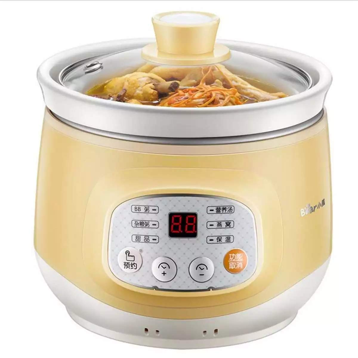 LEED 100W Electric Slow Cooker Ceramic Mini Fully Automatic Baby Soup Pot Congee Bird's Nest Stew Pot Multi-Function Safe Slow Cooker