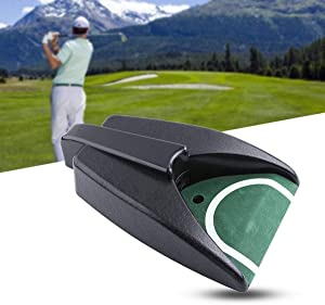 Techson Golf Automatic Putting Cup, Ball Return Device with Green Slope Mat Sensor Hole for Indoor Home Office Practice Training AID