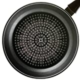 TeChef BFIHF28 Blooming Flower Frying Pan, with Teflon Platinum Non-Stick Coating (PFOA Free)/Ceramic Coated Outside/Induction Ready